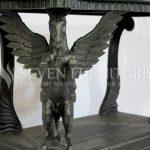 Meja Console Antique Dengan Patung Kuda