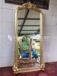 Frame Stand Mirror Badan Tinggi Full Ukir Gold Mewah