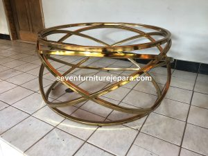 Meja Tamu Stainless Steel Gold – Metal Coffee Table