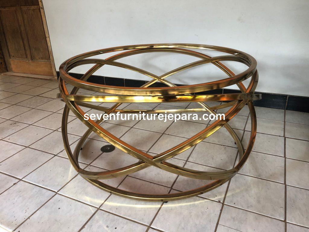 Meja Tamu Stainless Steel Gold - Metal Coffee Table