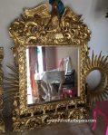 Frame Cermin Pigura Ukir Patung Rajawali Klasik Gold Mewah