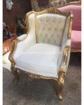 Kursi Tamu Wing Chair Ukiran Klasik Gold